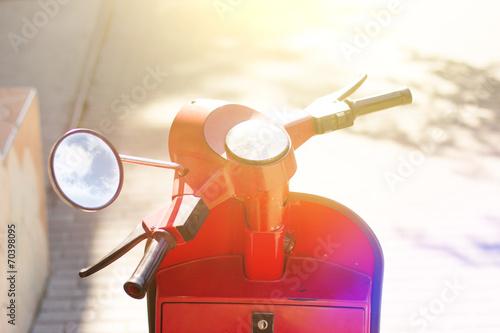 Vintage scooter background - 70398095