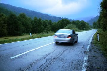 Car Motion Blur, Montenegro