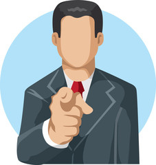 Pointing man icon
