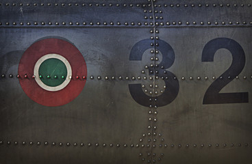 Painting canvas military texture depicting Italian badge