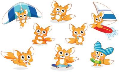 various styles cartoon squirrel