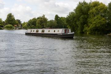 old barge on river Thames , near Wargrave