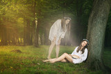 Beautiful girl  astral projection poster