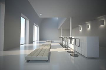 white showroom