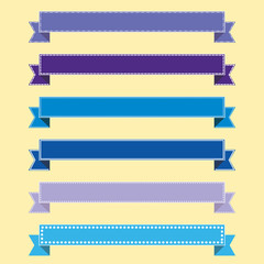 vector set of ribbons for web infographics