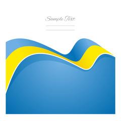 Ukraine abstract flag ribbon vector