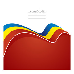 Romania abstract flag ribbon vector