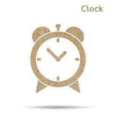 burlap alarm clock