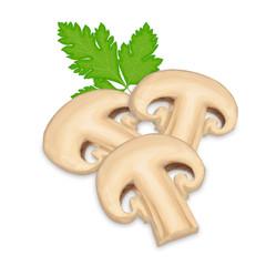 Three Mushroom Slices