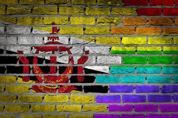 Dark brick wall - LGBT rights - Brunei