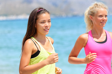 Running women runners training outdoors