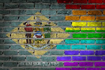 Dark brick wall - LGBT rights - Delaware