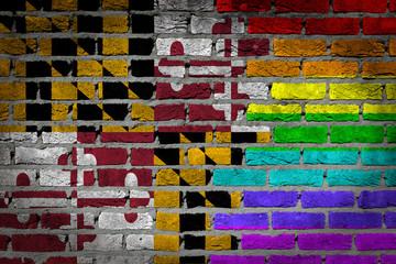 Dark brick wall - LGBT rights - Maryland