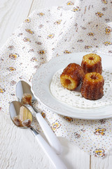 Canele - traditional dessert of French cuisine