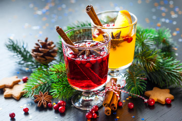 Orange and cranberry punch