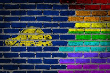 Dark brick wall - LGBT rights - Oregon