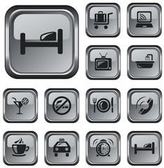 Hotel button set