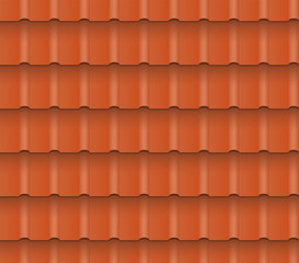 Metal or clay roof tiles for roofing houses. Seamless pattern.