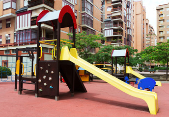 playground  in city street, nobody