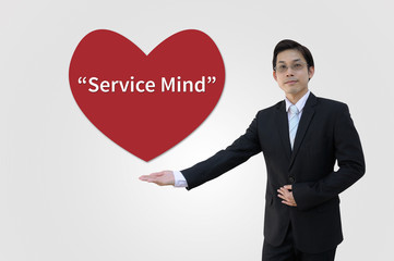Service mind of business concept