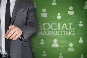 Social marketing on blackboard
