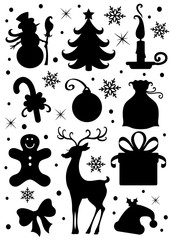 Collection of a Christmas icons.
