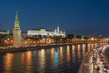 the Moscow Kremlin and the waterfront. Moscow. Russia