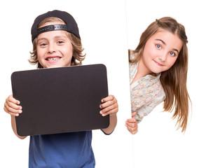 Kids posing