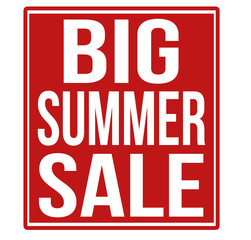 Big summer sale red sign