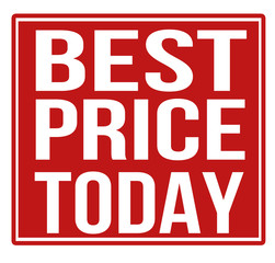 Best price today red sign