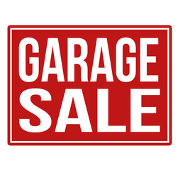 Garage sale red sign