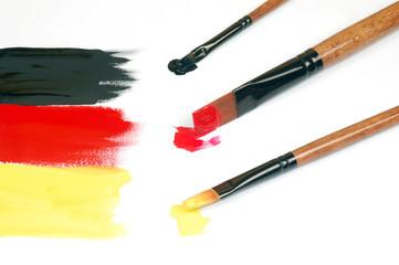 painted German flag