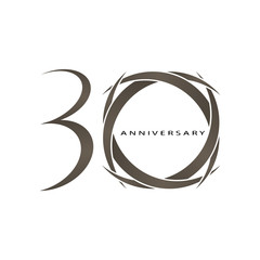 30 years anniversary vector