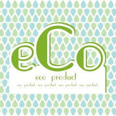 eco product blue green leaves background