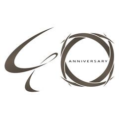 40 years anniversary vector