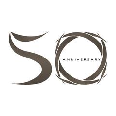 50 years anniversary vector