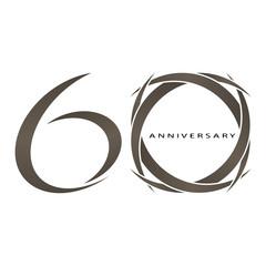 60 years anniversary vector