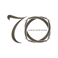 70 years anniversary vector
