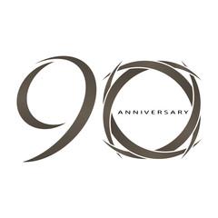 90 years anniversary vector