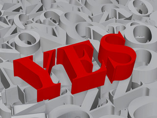 Yes - 3d text