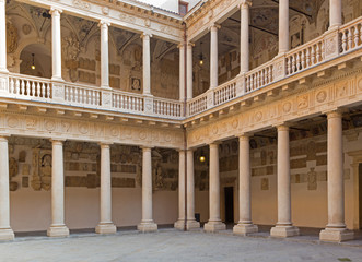 Padua - The atrium of Palazzo del Bo