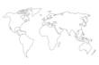 World Map. Detailed Contours. Line Style - 70406232