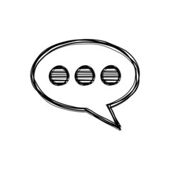 Vector of sketch doodle, speech bubble icon