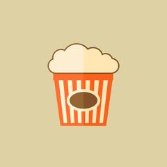 Popcorn. Food Flat Icon