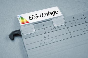 Ordner mit EEG-Umlage