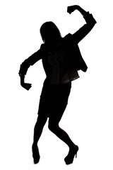 Athlete pose - silhouette of woman