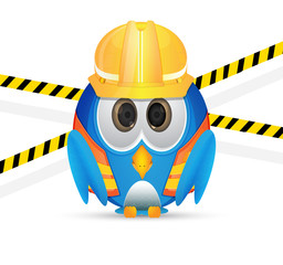 blue bird wit construction outfit