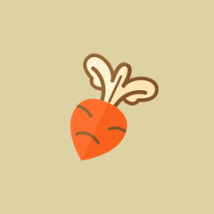 Beet. Food Flat Icon