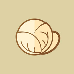 Cabbage. Food Flat Icon