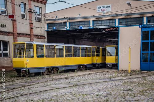 canvas print picture Berlin Tram